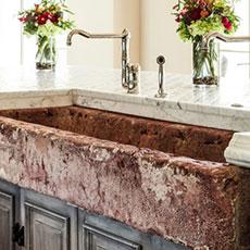 Marble sinks bathroom